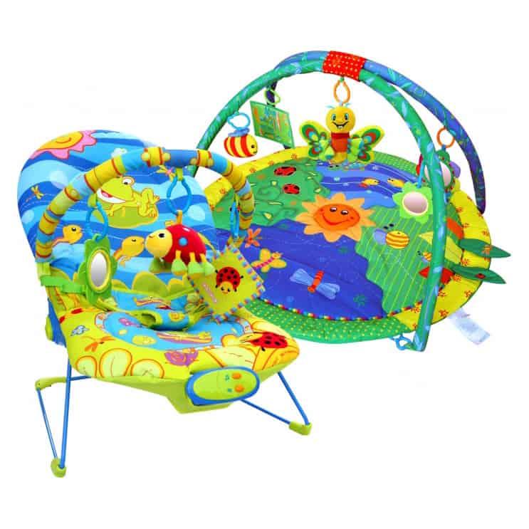 Paketerbjudande! Babygym och Babysitter Beautiful Garden