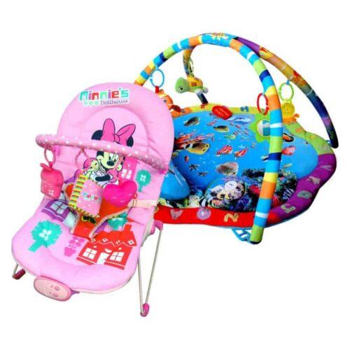 Paketerbjudande! Babygym och Babysitter Disney Mimmi Mouse