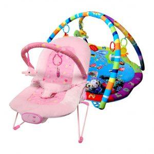 Paketerbjudande Babygym och Babysitter Pink Ocean Star