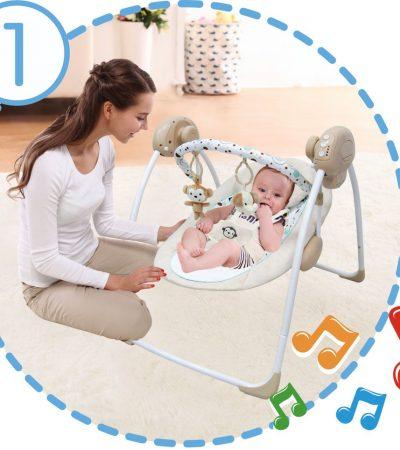 Ladida Babygunga Elegant and Comfy Baby Electric Swing
