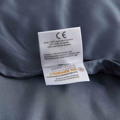 Beckasin Svalt Tyngdtäcke för Barn 2,6 kg Grå Bambu – Fritt från polyester